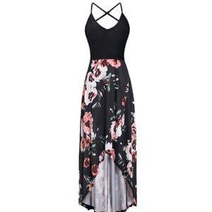 Summer Sleeveless Floral Maxi Dress